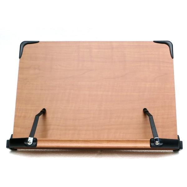 見やすい角度に14段階調節 木製ブックスタンド 標準サイズ(35×24cm) 折りたたみ式 書見台 タブレット台 (メーカー直輸入品)|niyantarose