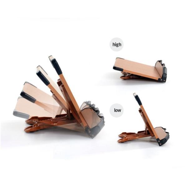 見やすい角度に14段階調節 木製ブックスタンド 標準サイズ(35×24cm) 折りたたみ式 書見台 タブレット台 (メーカー直輸入品)|niyantarose|03
