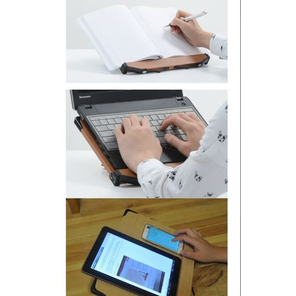 見やすい角度に14段階調節 木製ブックスタンド 標準サイズ(35×24cm) 折りたたみ式 書見台 タブレット台 (メーカー直輸入品)|niyantarose|04