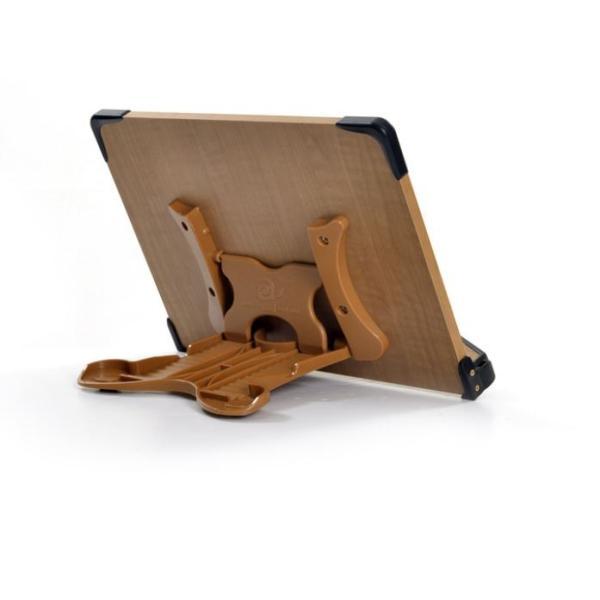 見やすい角度に14段階調節 木製ブックスタンド 標準サイズ(35×24cm) 折りたたみ式 書見台 タブレット台 (メーカー直輸入品)|niyantarose|05