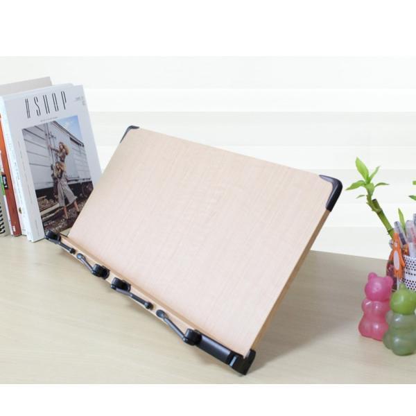 木製 ブックスタンド 超ワイドサイズ 60×26センチ ダブルサイズ 14段階調節 折りたたみ式 読書台 書見台 S3(輸入品)