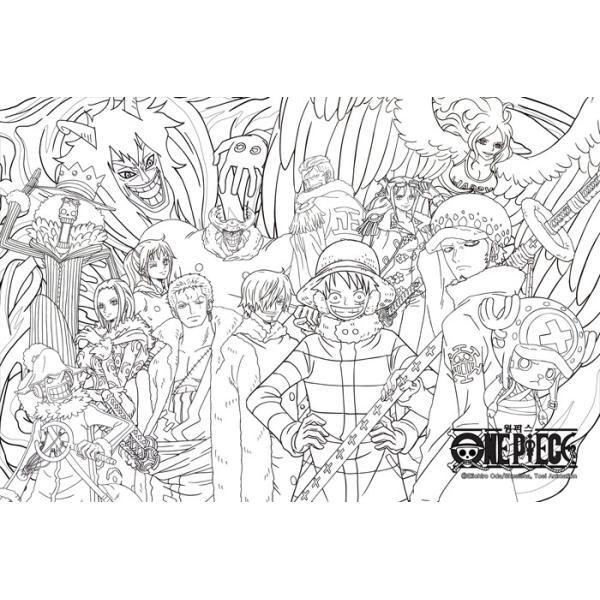 韓国語のぬりえ本 ワンピース One Piece カラーリングブック 1大人の