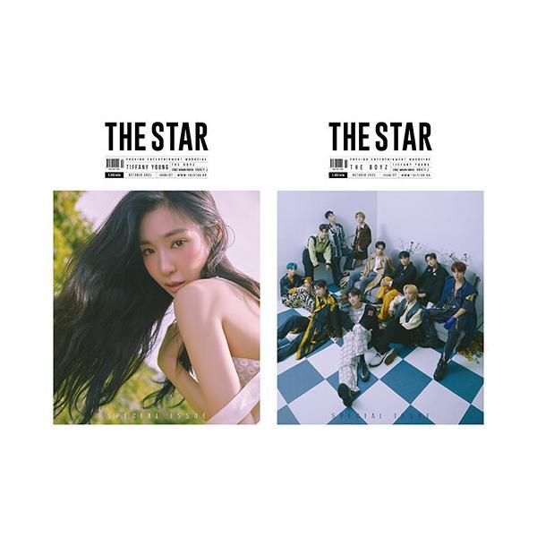 ★特別付録 THE BOYZ フォトカード11枚★韓国 雑誌 THE STAR (ザ・スター) 2021年 10月号 (少女時代のティファニー&THE BOYZ 両面表紙)