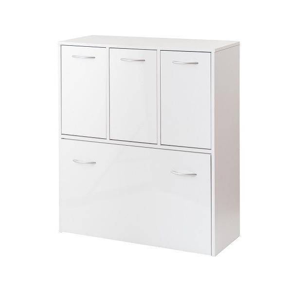 ダストボックス 5分別 ホワイト色 キッチンシリーズface ゴミ箱 fy-0029|nkagu-store