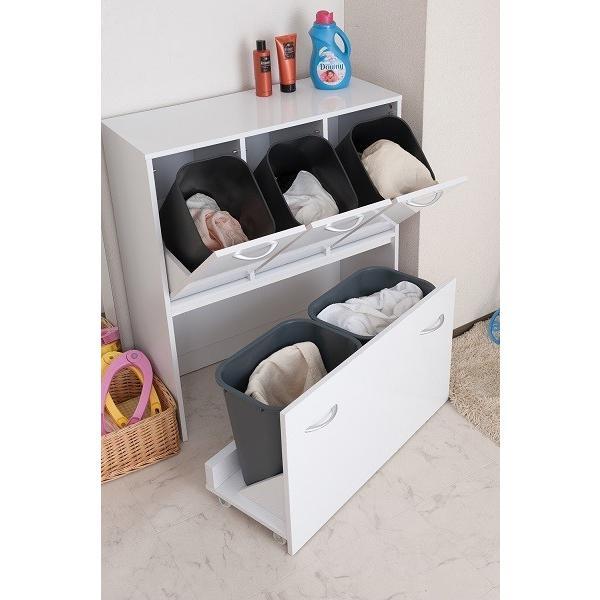 ダストボックス 5分別 ホワイト色 キッチンシリーズface ゴミ箱 fy-0029|nkagu-store|03