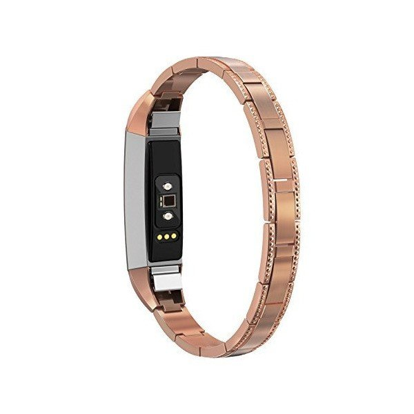 HR Rhinestone Diamond Stainless Steel Link Bracelet Band Strap For Fitbit Alta