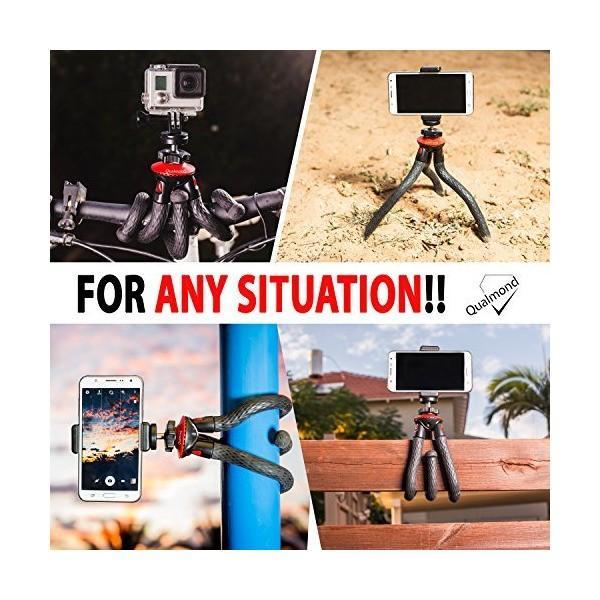 Qualmond Universal Flexible Tripod: Phone, Camera, Gopro Tripod Adapters F