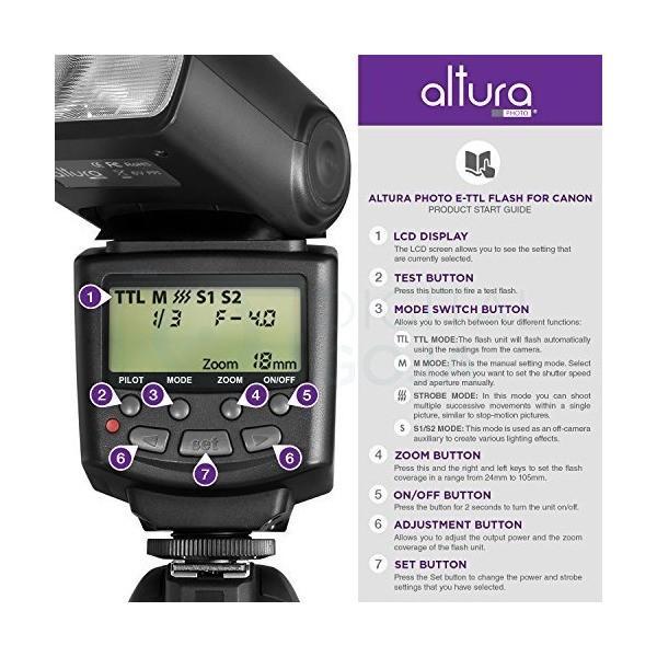 Altura Photo Studio Pro Flash Kit for CANON DSLR Bundle with 2pcs E-TTL Fl