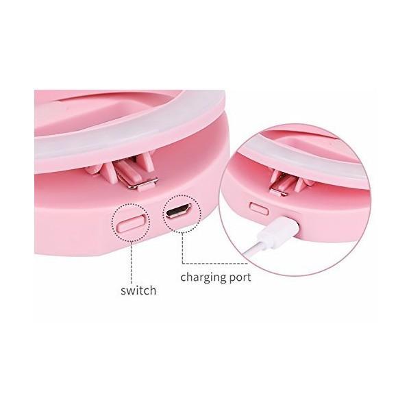 CRELANE Selfie Ring Light Rechargeable 36 LED Supplementary Lighting Night