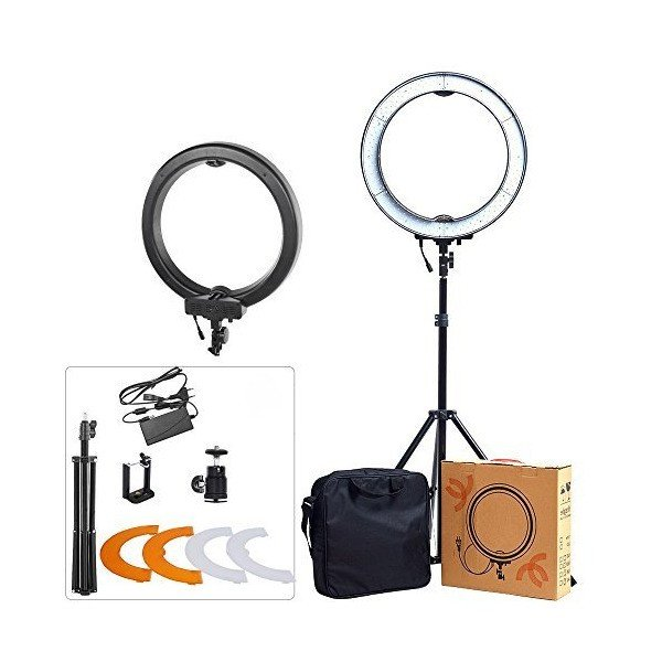 "ASHANKS 18"" SMD Outer 55W 5500K 240 Ring Light Kit LED Dimmable Camera Pho"