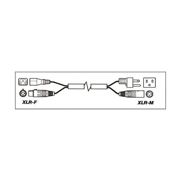 Musician's Gear XLR Powered-Speaker Cable 14-Gauge AC, 24-Gauge Signal Wir