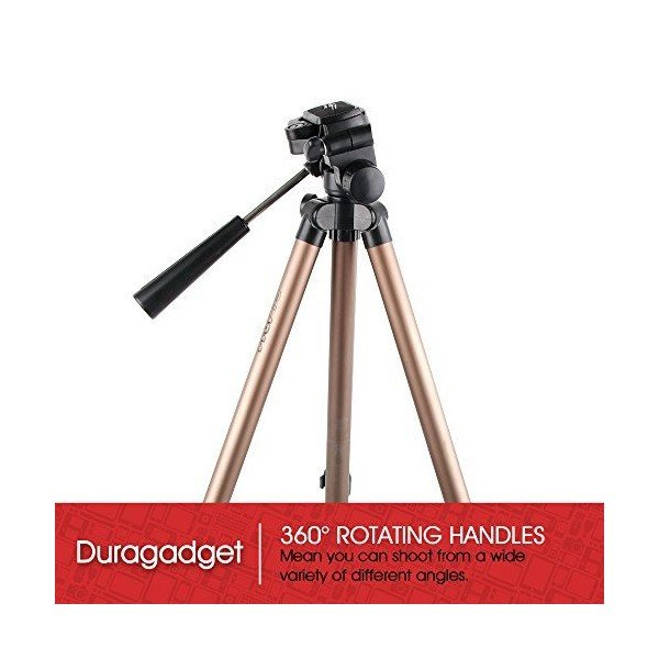 DURAGADGET Professional Lightweight Aluminium Tripod for the Polaroid ID16