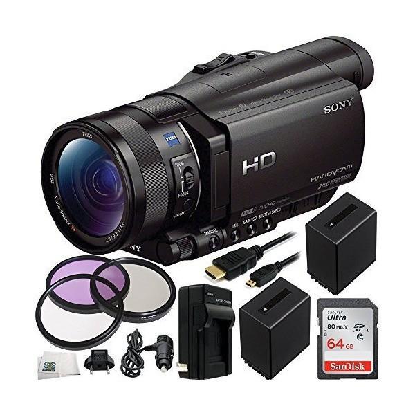 Sony HDR-CX900 Full HD Handycam Camcorder (Black) 64GB Bundle 11PC Accesso
