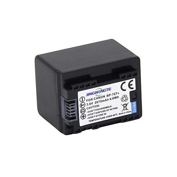 JINGNENGTE@ Camcorder Battery BP-727 BP727 Replacement Canon BP-727 Batter