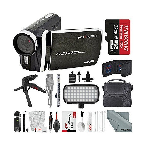 Bell & Howell Black DV30HD 1080p HD Video Camera Camcorder + Deluxe Ac