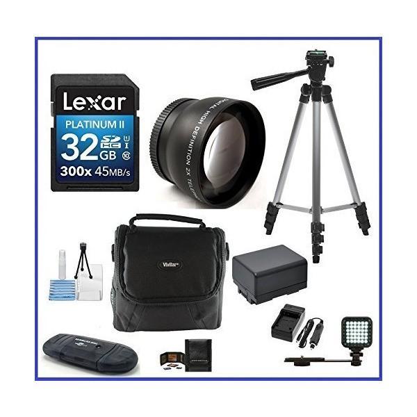 Canon VIXIA HF-R Camcorder PRO Bundle, includes: 32GB SDHC Memory Card, Te