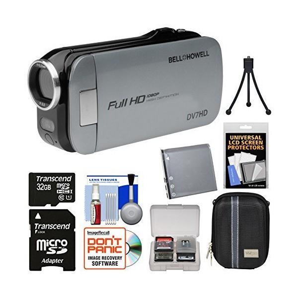 Bell & Howell Slice2 DV7HD 1080p HD Slim Video Camera Camcorder (Gray)