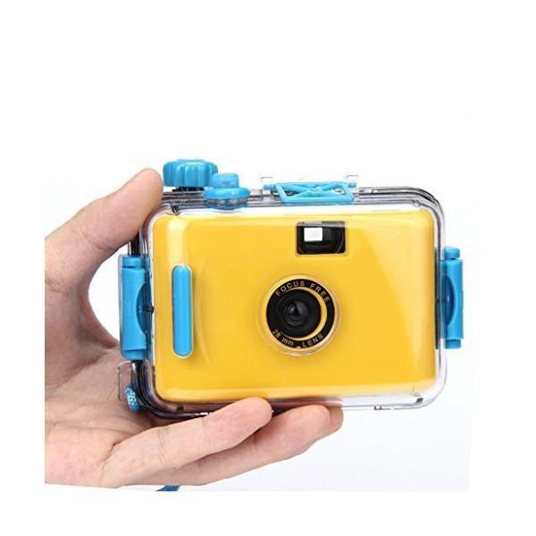 Hometom Waterproof Mini 35mm Film Camera Purple Underwater Cameras (Yellow