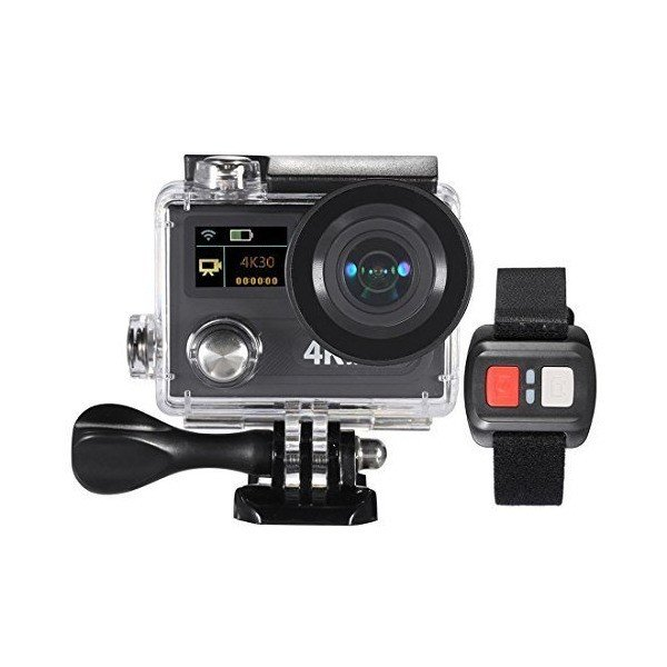 SODIAL(R) 2inch Dual Screen LCD Sports Action Camera Ultra HD 360 VR Play