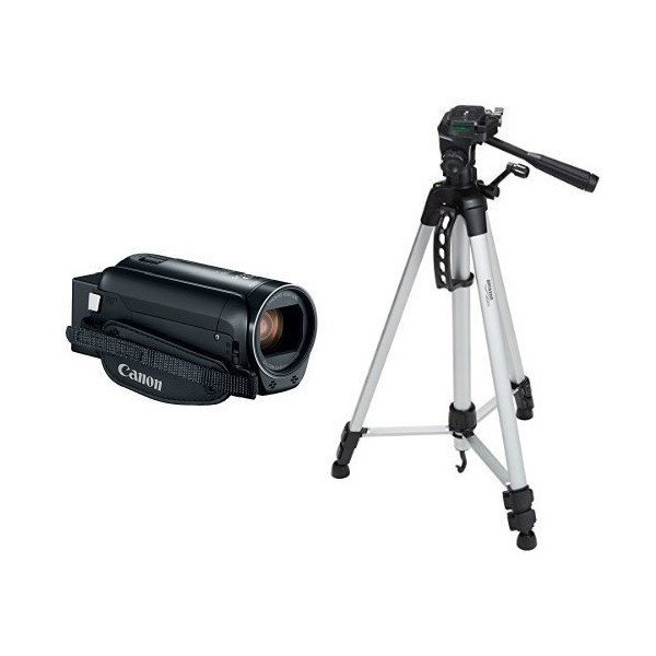 Canon VIXIA HF R800 Camcorder (Black) and 60-Inch Lightweight Tripod with
