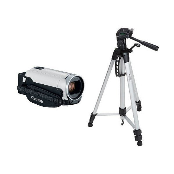 CanonVIXIA HF R800 Camcorder (White) with 60-Inch Lightweight Tripod and