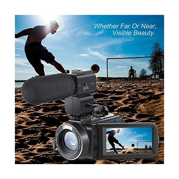 Camera Camcorder, Besteker Remote Control WiFi Video Camcorders, Full HD 1