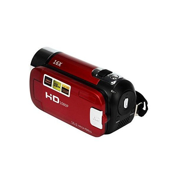 Wotryit HD 1080P 16M 16X Digital Zoom Video Camcorder Camera DV (red)
