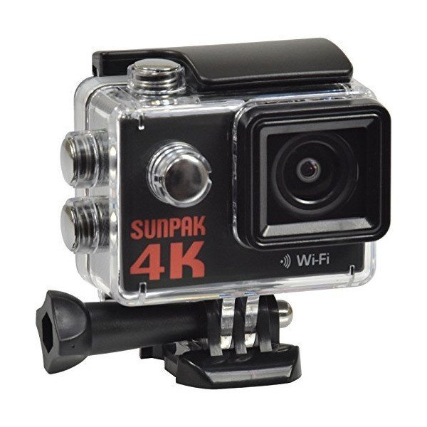 Sunpak Epic 4K HD Wi-Fi Waterproof Action Video Camera Camcorder with Unde