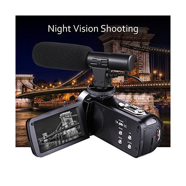 Camcorder Video Camera Full HD 1080p 30fps 24.0MP Camcorders With External