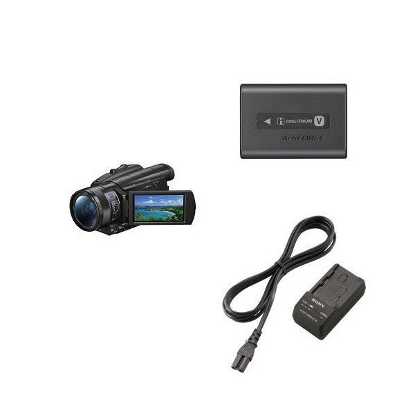 Sony FDR-AX700 4K HDR Camcorder with Battery Pack and Travel Charger