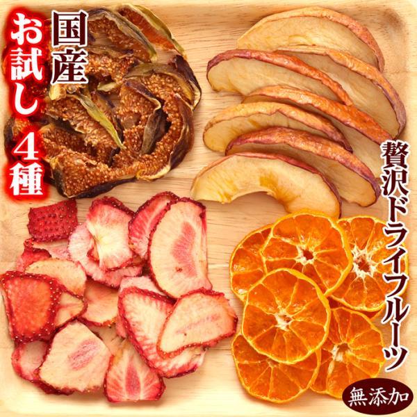 ポイント消化 ドライフルーツ 1000円 ポッキリ 国産 お試し 4種 送料無料 いちご ラフランス パイナップル すもも 無添加|no-brand