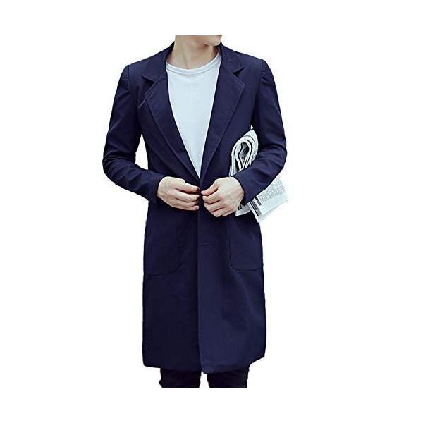 Sposee ステンカラーコートビジネスコートチェスターコートジャケットミドル丈トレンチ薄手前ボタン羽織り秋冬ロング