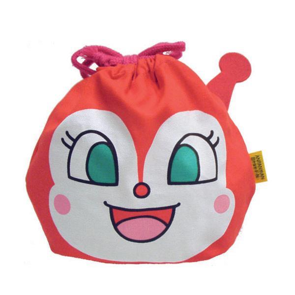 (あすつく対応)012046/ANP-800 アンパンマン フェイス巾着 「ドキンちゃん」