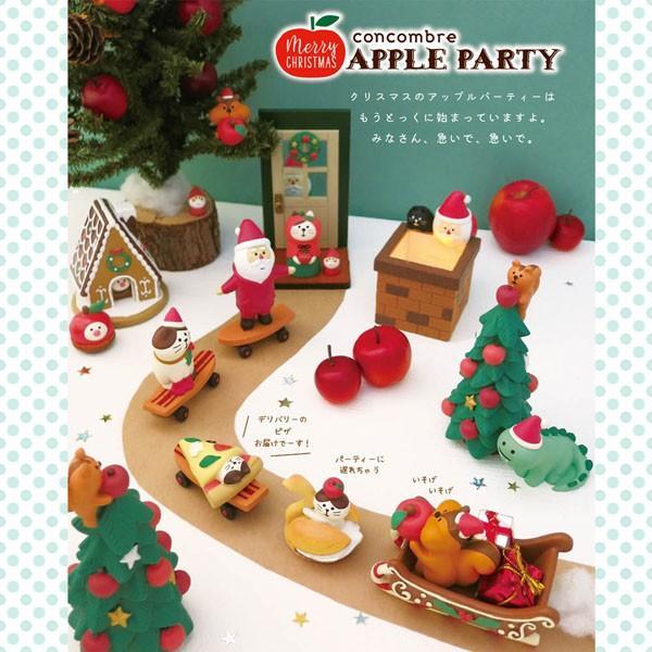 【予約商品2019年10月上旬入荷予定】ZXS-61146「ねこずきん りんご」デコレ concombre コンコンブル 2019年 クリスマス APPLE PARTY noahs-ark 02
