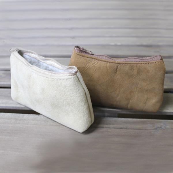 ムートンマルチポーチ オーストラリア産ダブルフェイスムートン 11×18.5 サンド/ウィート 化粧ポーチ アクセサリー・ペンケース