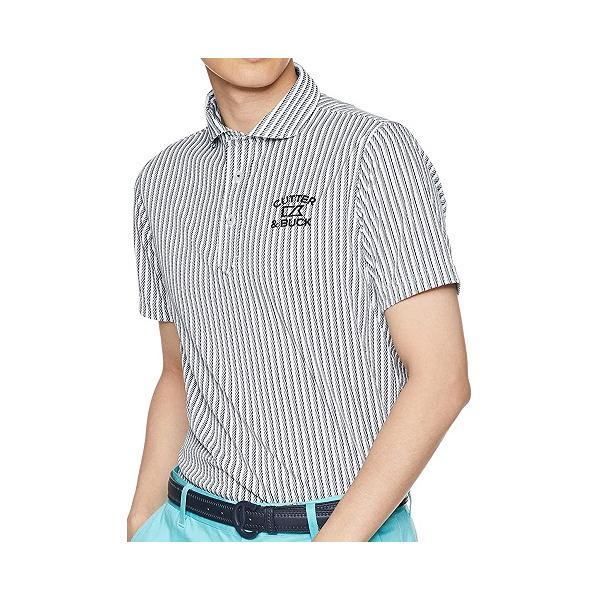 CGMNJA10 カッター&バック メンズストライプPOLOシャツ