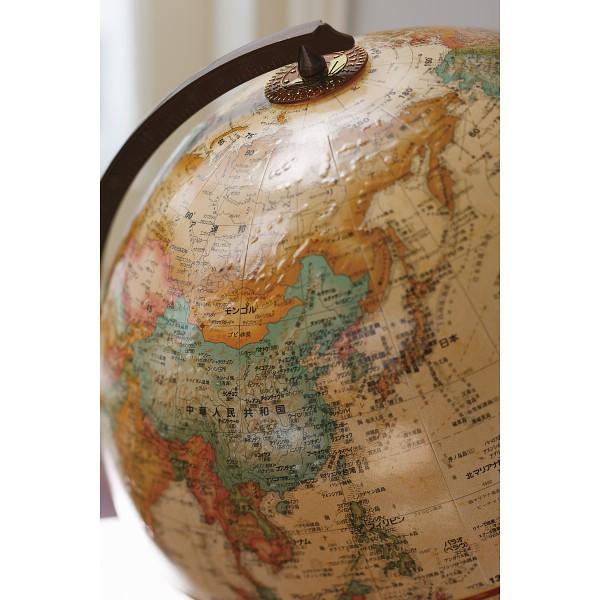 リプルーグル地球儀 チェスター型 日本語版  ブラウン51573ワールド・クラシック
