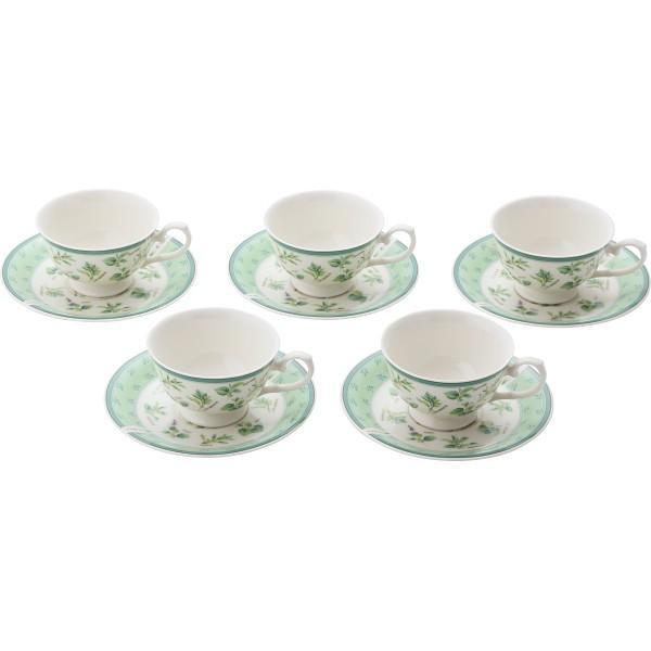 ハーブランド コーヒー碗皿5客セット T‐2047