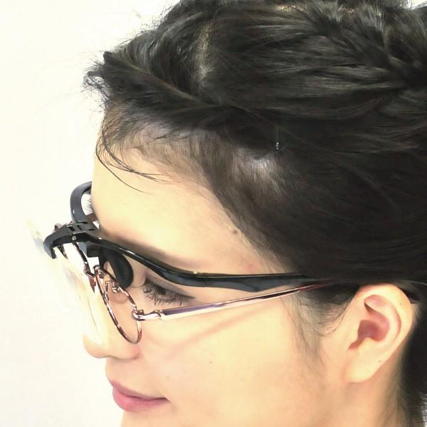 メガネ型ルーペ プレシス ブラックPL001