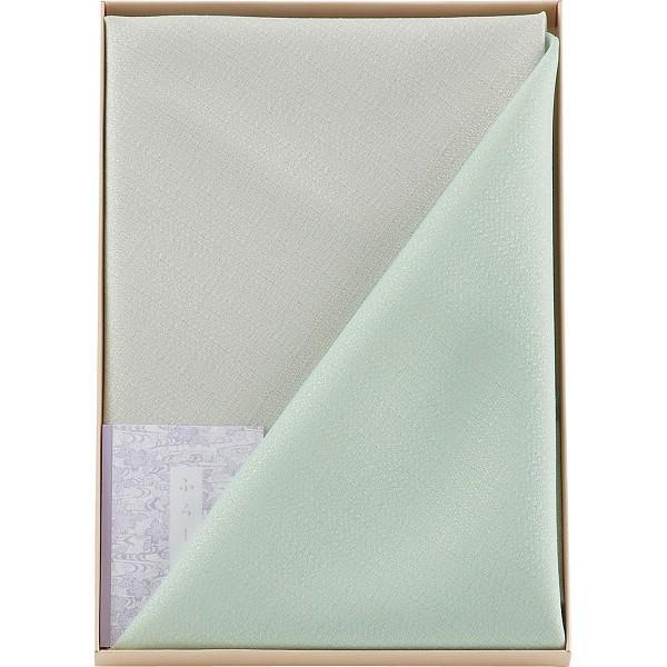 二巾 紬織両面染ふろしき セージ 0090-070