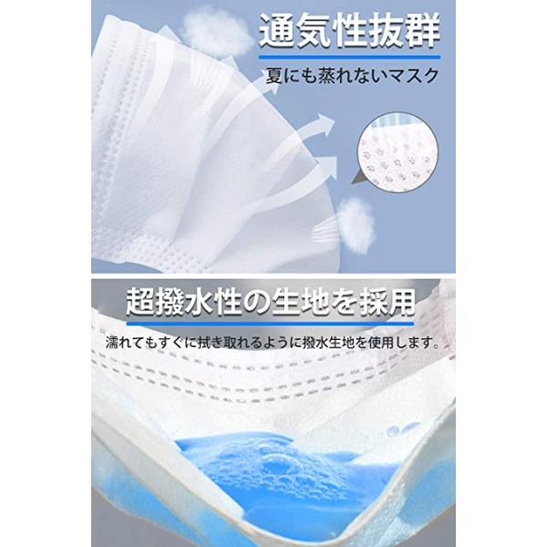 【200枚 在庫あり】 マスク 不織布 白い 使い捨てマスク 不織布 防塵不織布 花粉 3層構造高密度フィルター お出かけ安心 ふつうサイズ 男女兼|noel-honpo|05