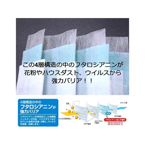 日本製 マスク アレルキャッチャーマスク Lサイズ 30枚入 4層構造 個別包装 高い消臭力 花粉 ウイルス 飛沫 99% 除去 PM2.5 不織布|noel-honpo|03