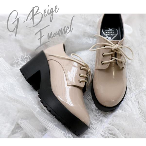 厚底 靴 おじ靴 シューズ レディース マニッシュ ブラウン グレー ホワイト ブラック SANGO sango サンゴ|nofall|04