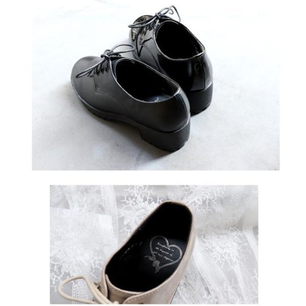 厚底 靴 おじ靴 シューズ レディース マニッシュ ブラウン グレー ホワイト ブラック SANGO sango サンゴ|nofall|05