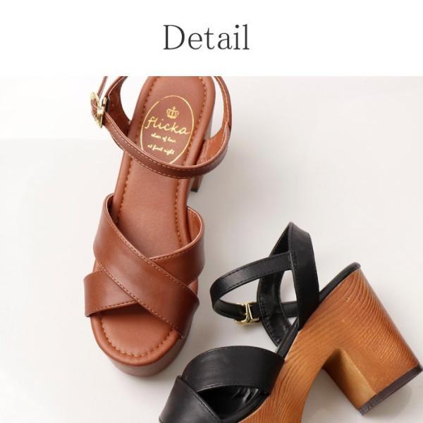サンダル レディース 厚底 ストラップ ベルトサンダル 春サンダル 春 夏 夏靴 美脚ベルト 盛れる 黒 ブラウン ホワイト|nofall|15