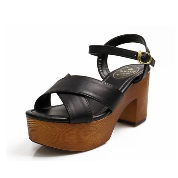サンダル レディース 厚底 ストラップ ベルトサンダル 春サンダル 春 夏 夏靴 美脚ベルト 盛れる 黒 ブラウン ホワイト|nofall|18