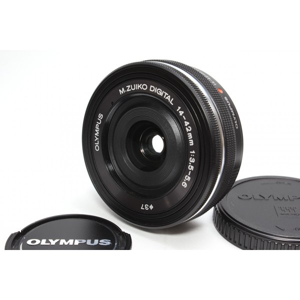 標準レンズ OLYMPUS オリンパス M.ZUIKO DIGITAL ED 14-42mm F3.5-5.6 EZ 電動ズームレンズ ブラック|nogi-camerayshop