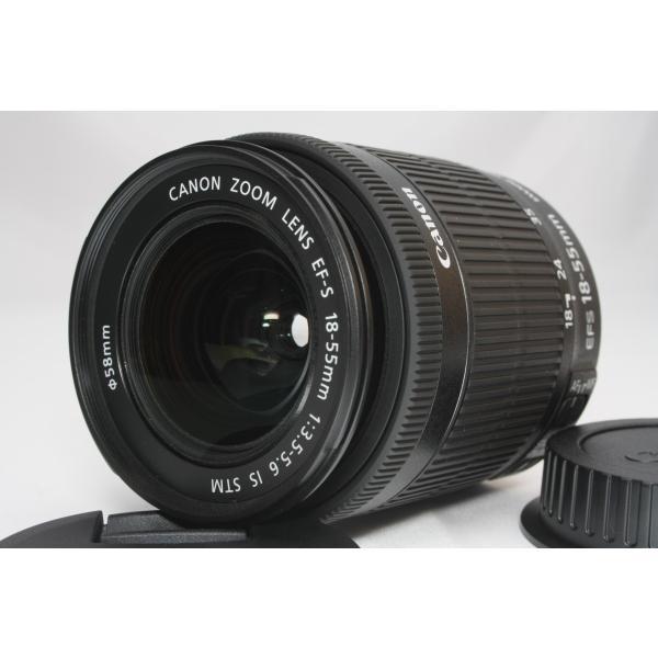 標準レンズ Canon キヤノン EF-S 18-55mm F3.5-5.6 IS STM レンズ 手ブレ補正