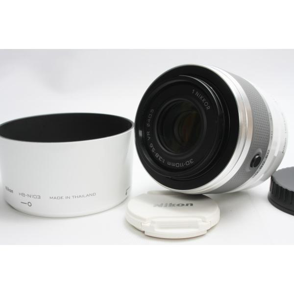 望遠レンズ Nikon ニコン 1 NIKKOR VR 30-110mm f/3.8-5.6 レンズ ホワイト