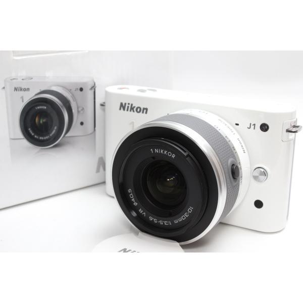 ミラーレス一眼 Nikon ニコン 1 J1 標準ズームレンズキット ホワイト 新品SDカード付き